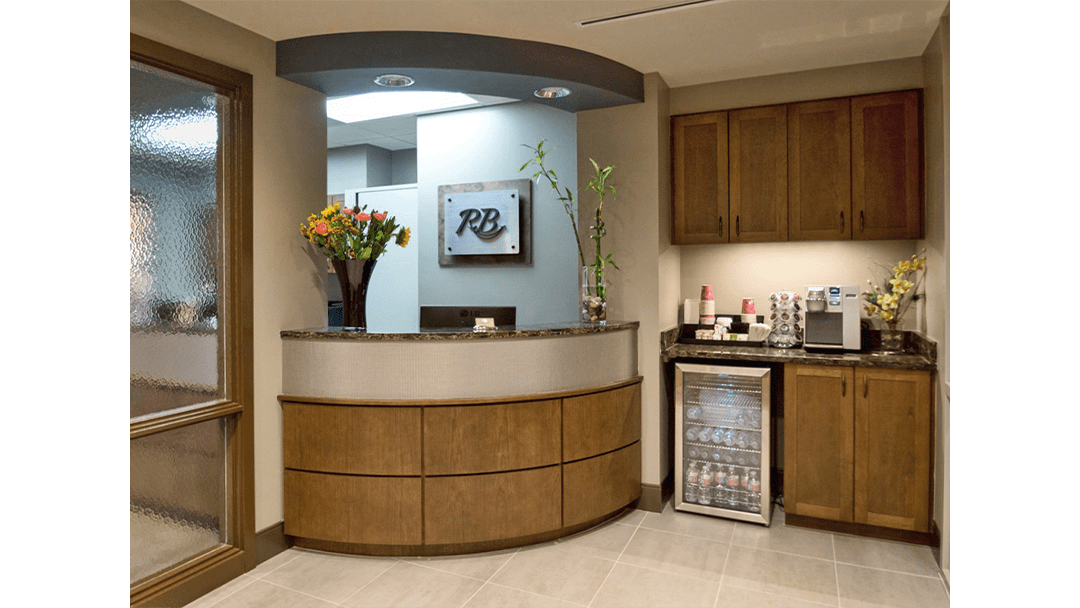Dr. Baier Dental Office Design, Greeting