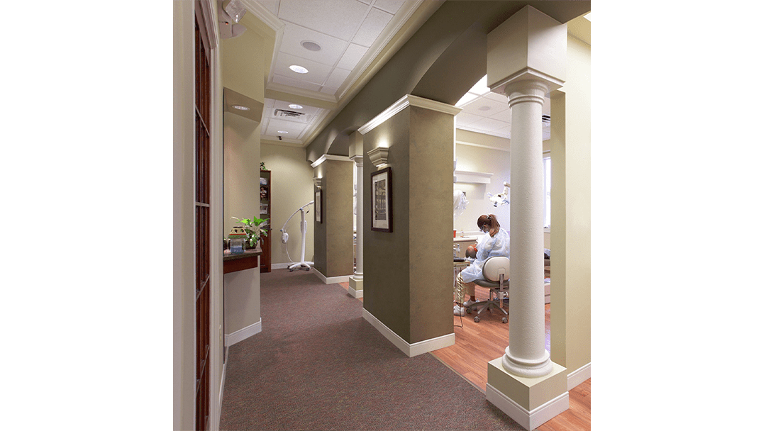 Dr. Davila Dental Office Design, Treatment Corridor
