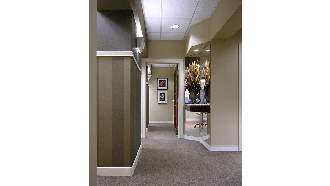 Dr. Davis Dental Office Design, Treatment Corridor