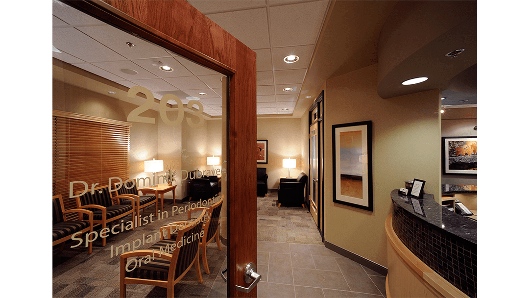 Dr. Dubravec Periodontic, Dental Office Design, Entry