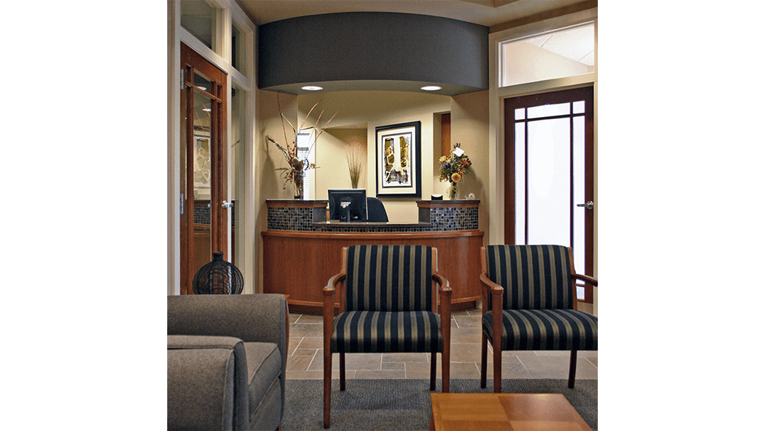 Dr. Glenn Oral Surgery Dental Office Design, Greeting