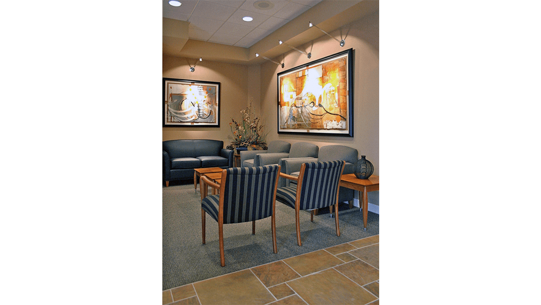 Dr. Glenn Oral Surgery Dental Office Design, Reception