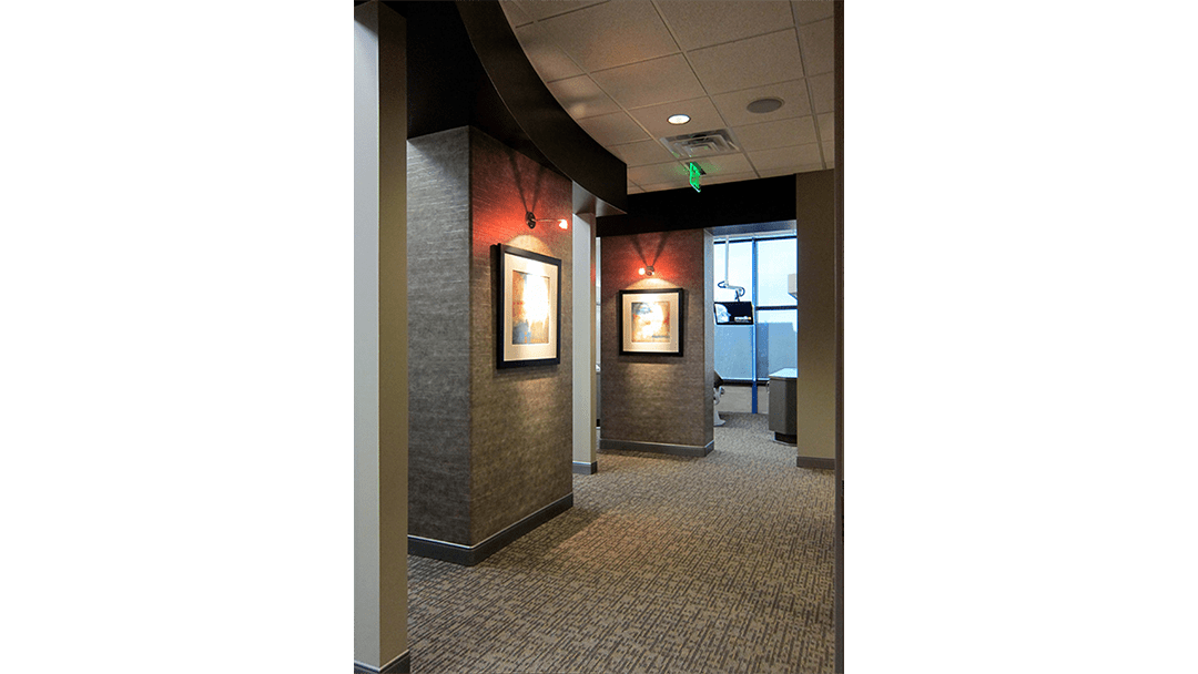Dr. Hohlen Dental Office Design, Treatment Corridor #1