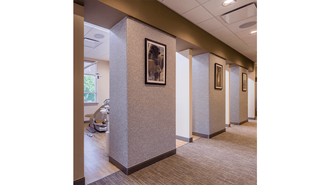Dr. Lee Periodontic Dental Office Design, Treatment Corridor