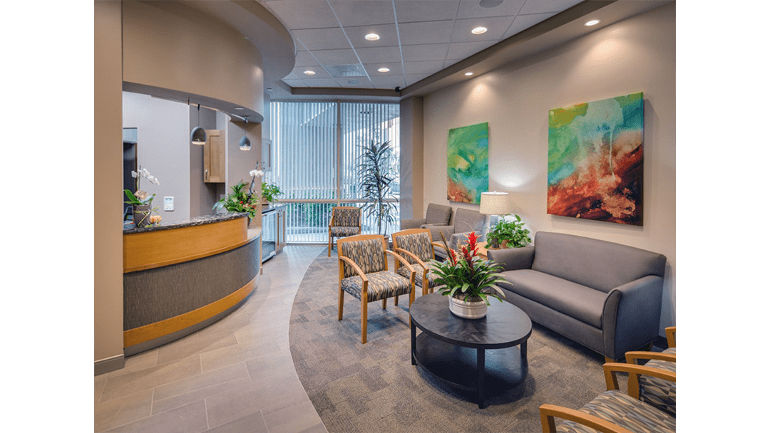 Dr. Lofthus Periodontic Dental Office Design, Reception