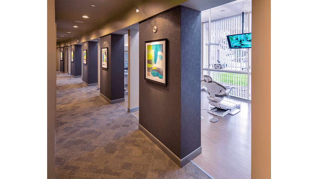 Dr. Lofthus Periodontic Dental Office Design, Treatment Corridor