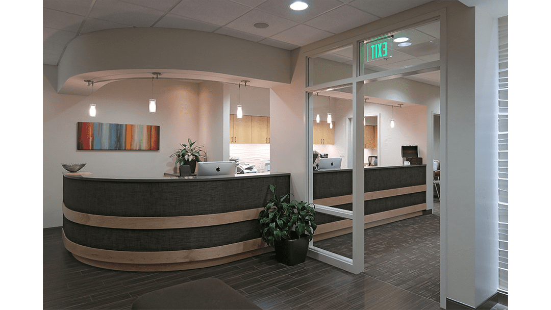 Genesis Orthodontics Dental Office Design, Greeting Reappointing