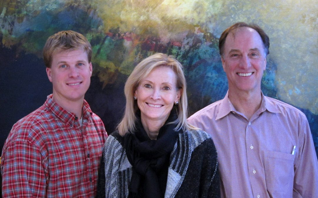 Drs. Brent Moeggenborg, Sara Wassenaar and Rich Frutiger